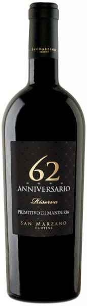 San Marzano Anniversario 62 Primitivo Riserva 2015 0,75l