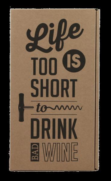 2-er Geschenkkarton natur - Life is too short...